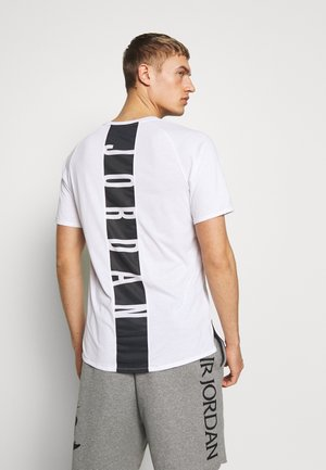 ALPHA DRY - T-shirt med print - white/gym red/black