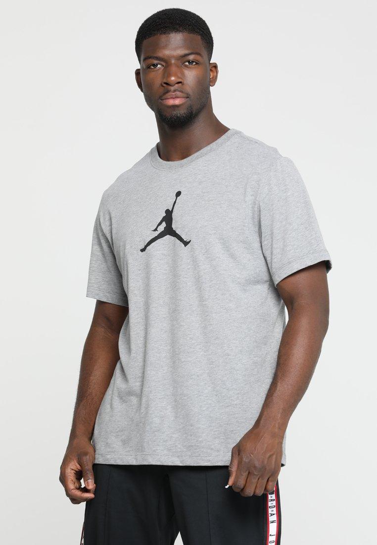 Jordan - ICON TEE - Print T-shirt - carbon heather/black