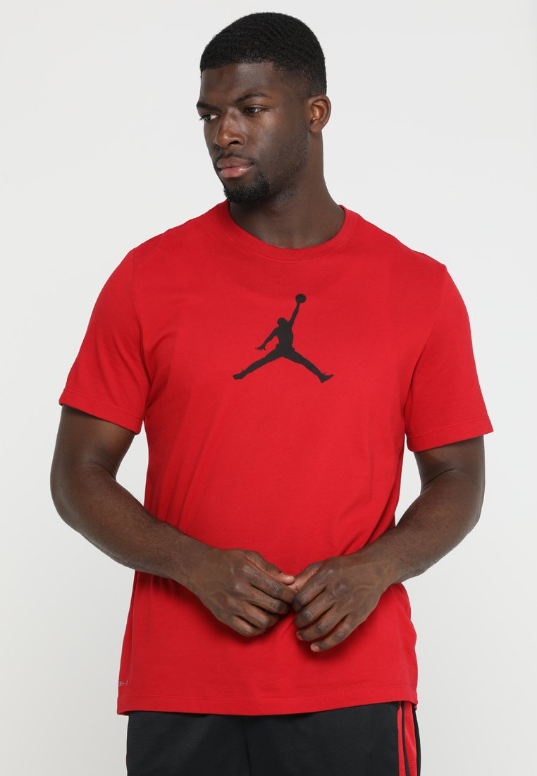 Jordan - ICON TEE - T-shirt z nadrukiem - gym red/black