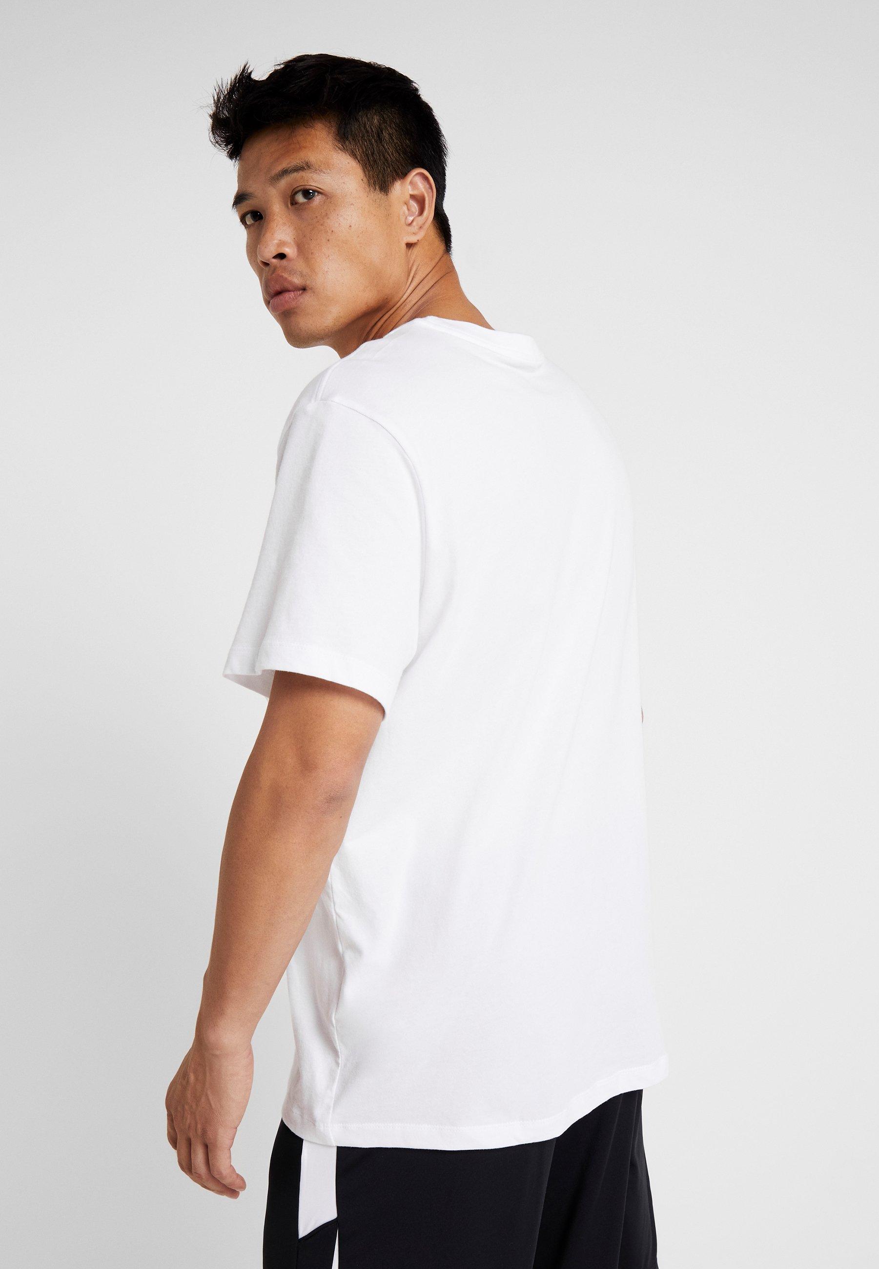 CrewT Jumpman Imprimé Jordan White black shirt VSzMpU