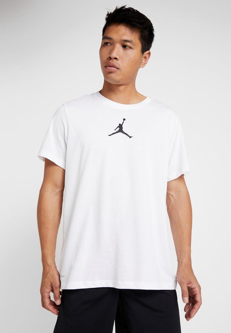 Jordan - JUMPMAN CREW - T-shirt z nadrukiem - white/black