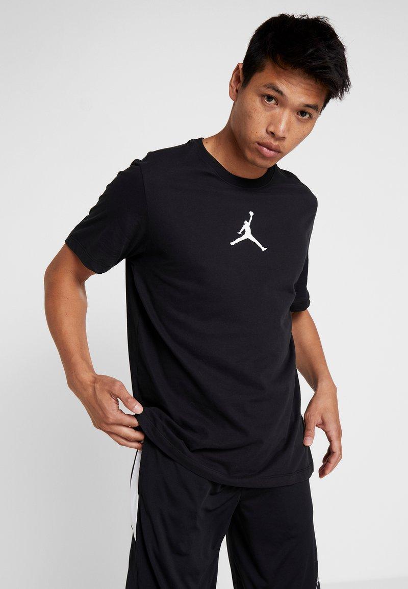 Jordan - JUMPMAN CREW - T-Shirt print - black/white