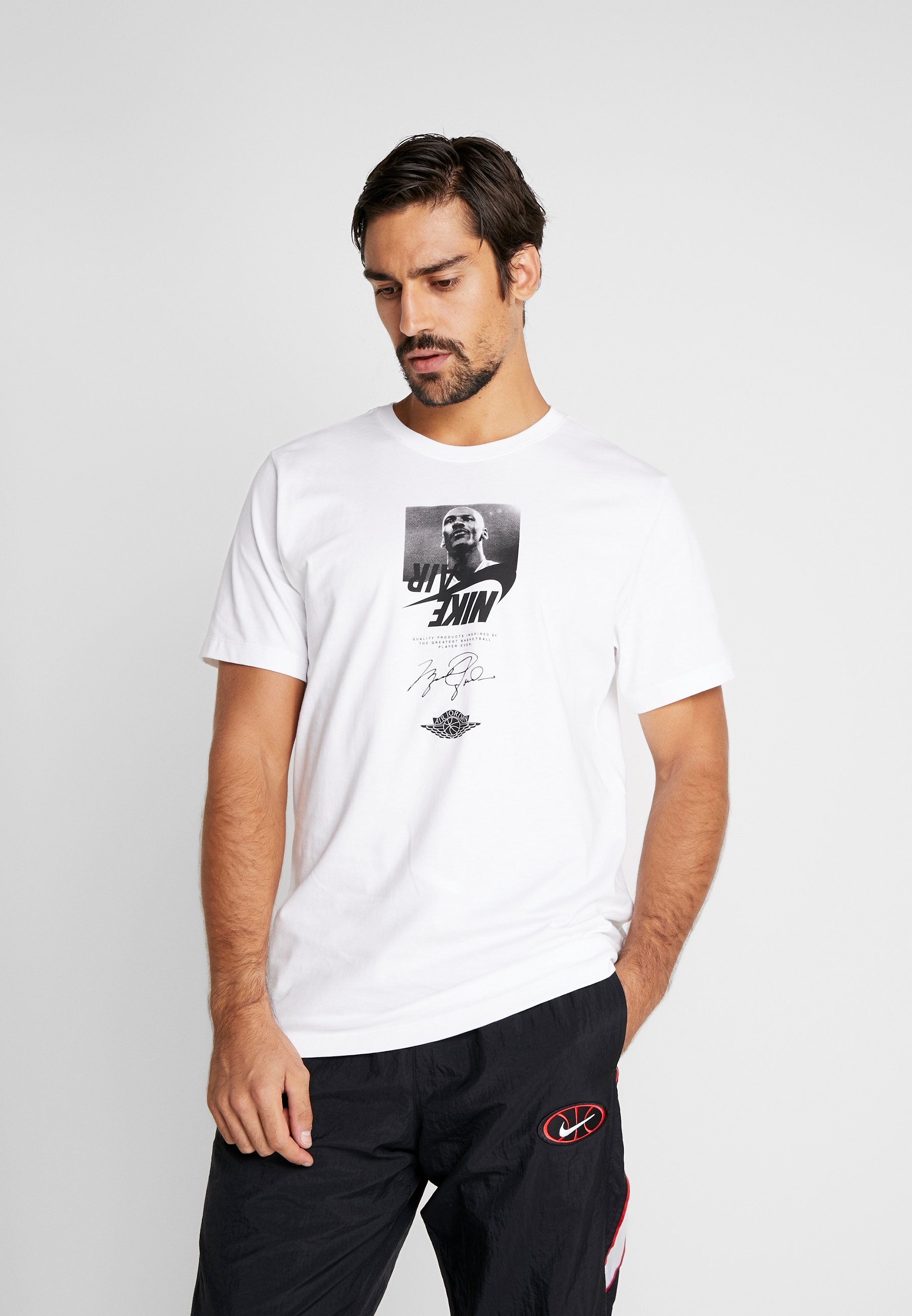 Jordan THE MAN CREW - T-shirt z nadrukiem - white