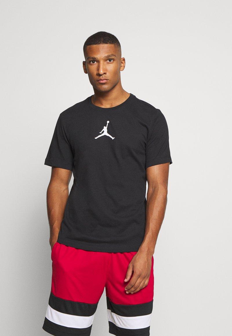 Jordan - JUMPMAN CREW - Print T-shirt - black/white