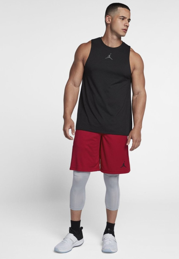 Jordan - ALPHA DRY - Urheilushortsit - gym red/black/black