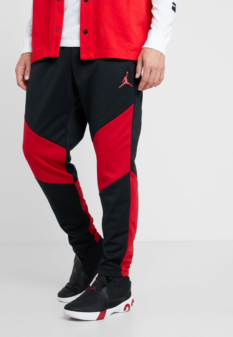 Jordan - ALPHA THERMA PANT - Tracksuit bottoms - black/gym red