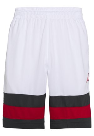 JUMPMAN BBALL SHORT - Sportovní kraťasy - white/dark smoke grey/gym red/gym red