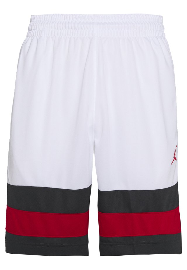 JUMPMAN BBALL SHORT - Korte broeken - white/dark smoke grey/gym red/gym red