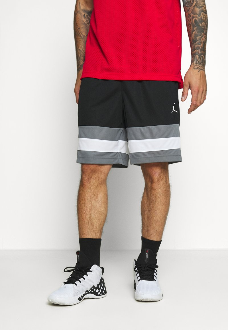 Jordan - JUMPMAN BBALL SHORT - kurze Sporthose - black/smoke grey/white/white