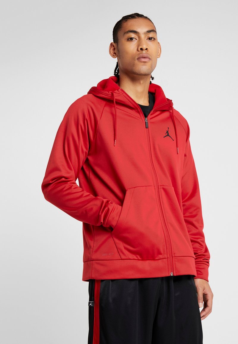 Jordan - ALPHA THERMA - Fleecejacke - gym red/black