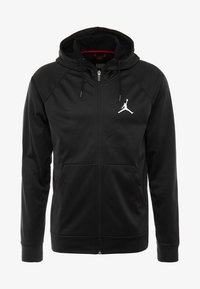 Jordan - ALPHA THERMA - Fleecetakki - black/white - 3