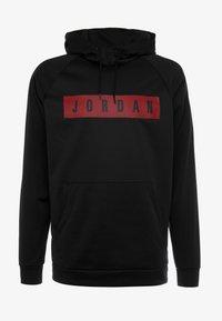 Jordan - 23 ALPHA - Bluza z kapturem - black/gym red - 3