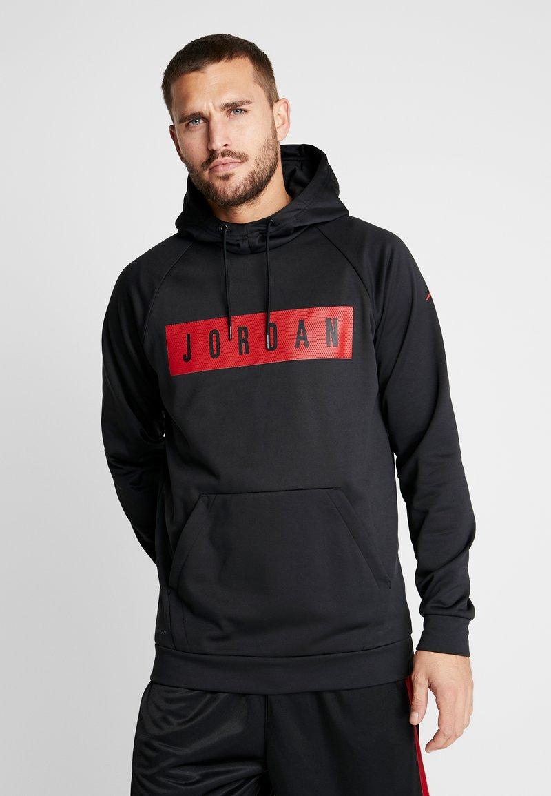 Jordan - 23 ALPHA - Bluza z kapturem - black/gym red