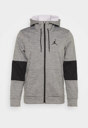 AIR THERMA FULL ZIP - Giacca in pile - carbon heather/black/white