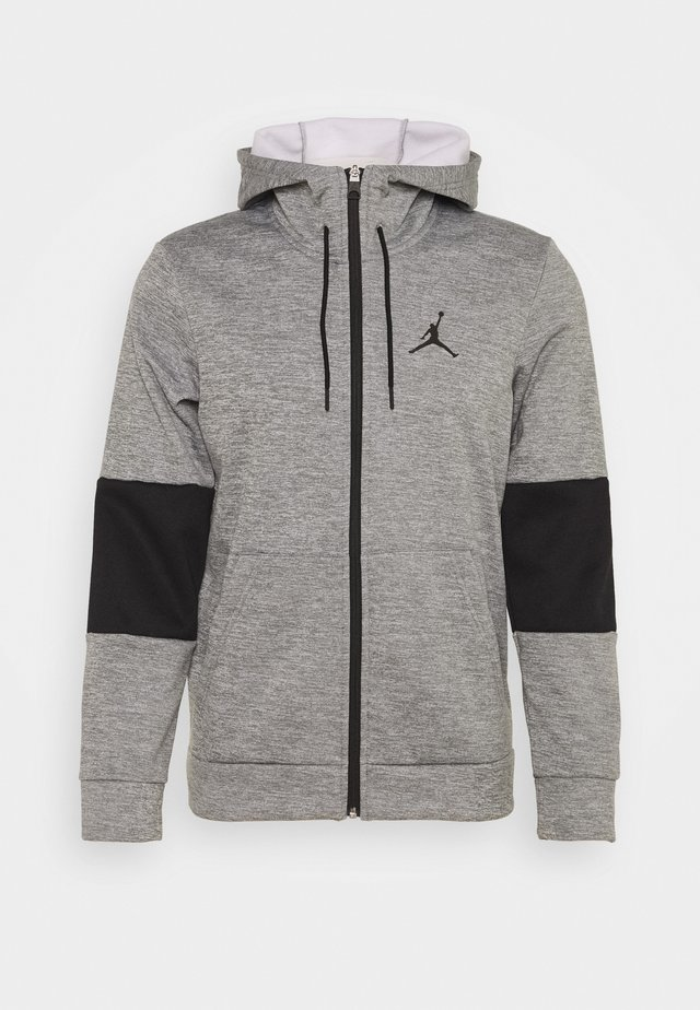 AIR THERMA FULL ZIP - Fleecejakke - carbon heather/black/white