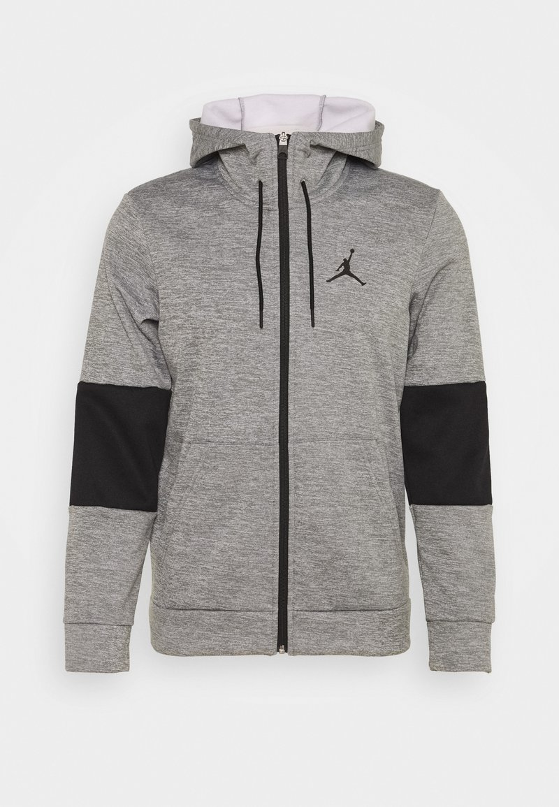 Jordan - AIR THERMA FULL ZIP - Fleecetakki - carbon heather/black/white