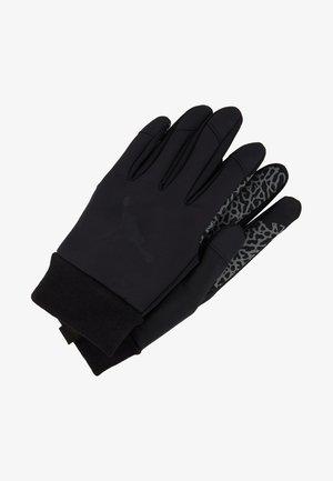 SHIELD GLOVES - Fingerhandschuh - black/dark grey/gym red