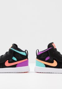 Jordan - 1 MID ALT - Basketball shoes - black/total orange/aurora green/hyper violet/bright crimson/white