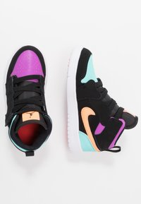 Jordan - 1 MID ALT - Basketball shoes - black/total orange/aurora green/hyper violet/bright crimson/white - 0