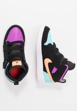 1 MID ALT - Zapatillas de baloncesto - black/total orange/aurora green/hyper violet/bright crimson/white