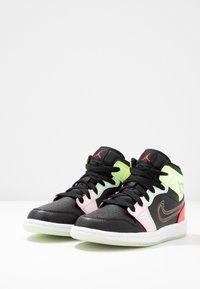 Jordan - 1 MID SE - Basketbalové boty - black/ember glow/barely volt/light soft pink/jade aura - 3