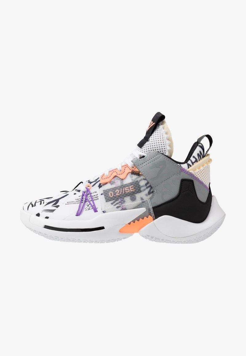 Jordan - WHY NOT 2 SE - Basketbalové boty - white/orange pulse/black/particle grey/bright violet