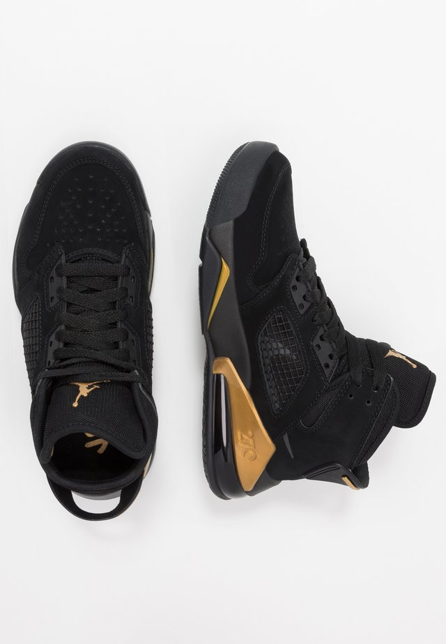 MARS - Basketballschuh - black/anthracite/metallic gold