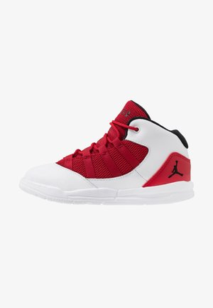 MAX AURA BT - Basketball shoes - white/black/gym red