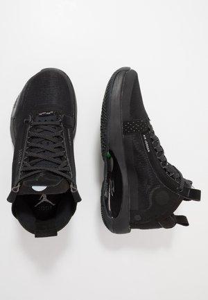AIR XXXIV BG - Basketbalové boty - black/dark smoke grey/electric green