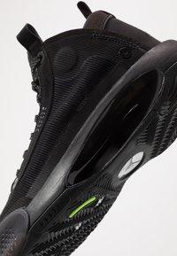 Jordan - AIR XXXIV BG - Basketbalové boty - black/dark smoke grey/electric green - 2