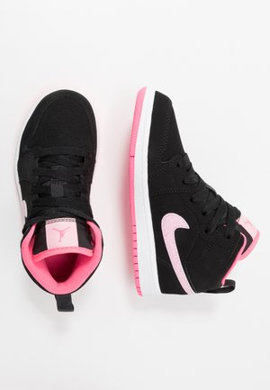 1 MID - Basketbalschoenen - black/pink foam/digital pink/white
