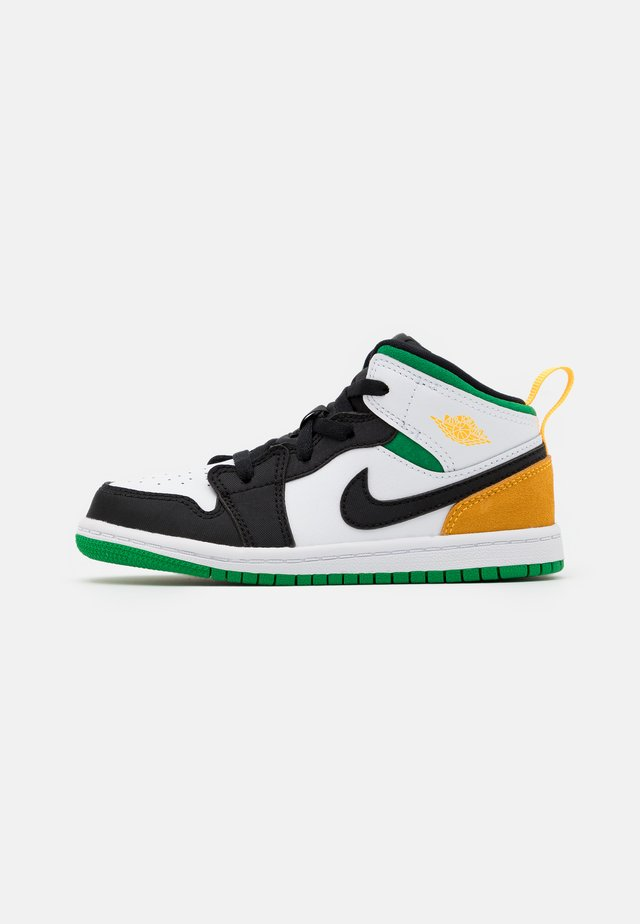 1 MID SE UNISEX - Chaussures de basket - white/laser orange/black/lucky green