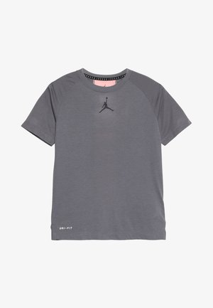 23 ALPHA DRY PANEL - Print T-shirt - gunsmoke