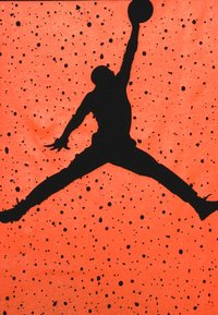 Jordan - BOX SPECKLE FADE TEE - Printtipaita - black/total orange - 4