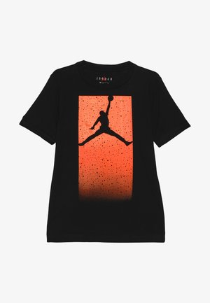 BOX SPECKLE FADE TEE - T-shirts print - black/total orange