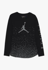 Jordan - OMBRE SPECKLE TEE - Pitkähihainen paita - black - 0