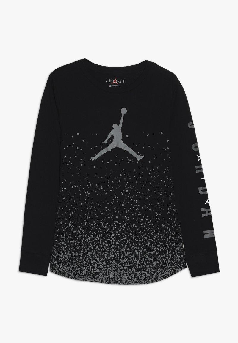 Jordan - OMBRE SPECKLE TEE - Pitkähihainen paita - black