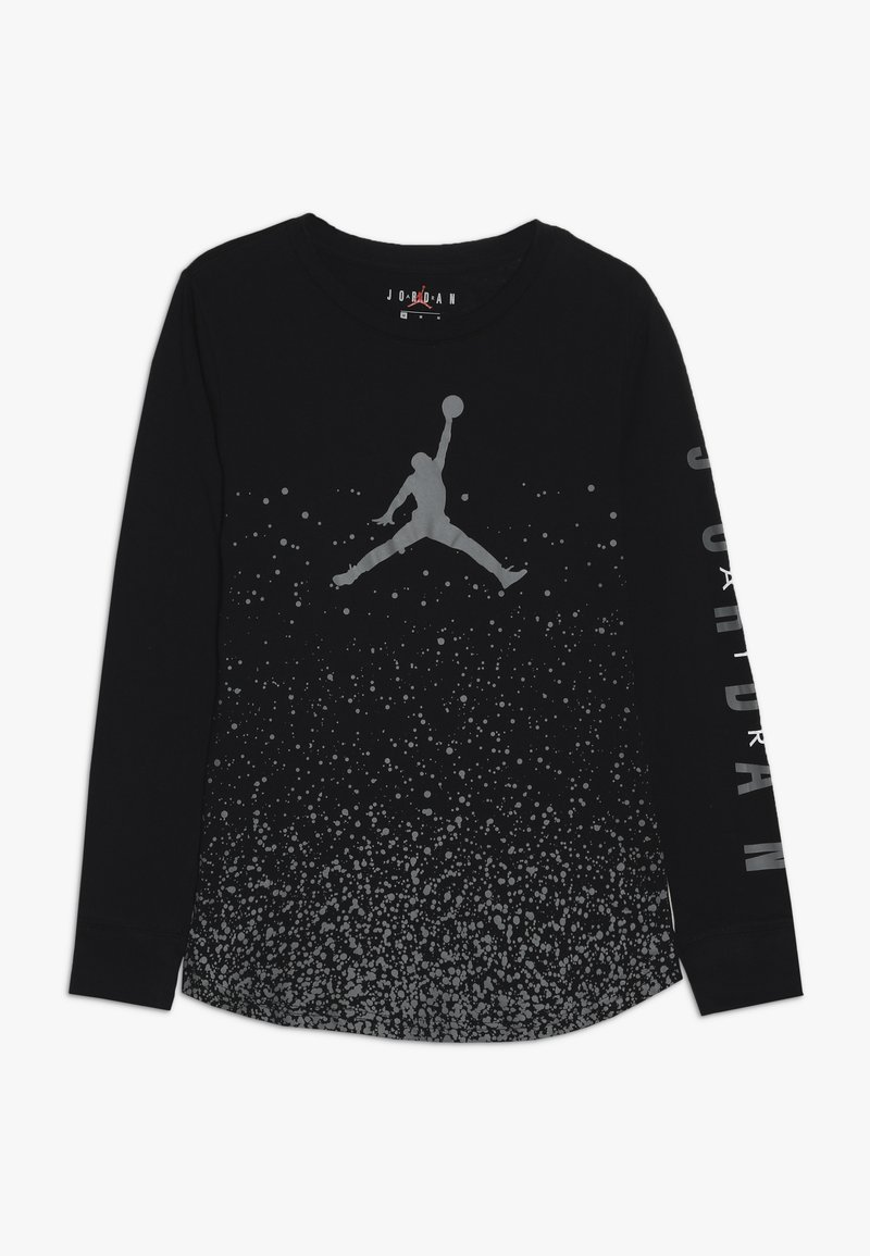 Jordan - OMBRE SPECKLE TEE - Langarmshirt - black