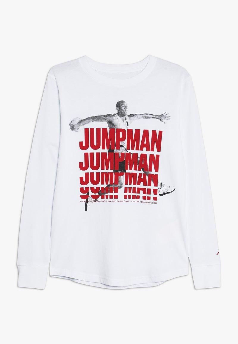 Jordan - JUMPMAN STACK TEE - T-shirt à manches longues - white