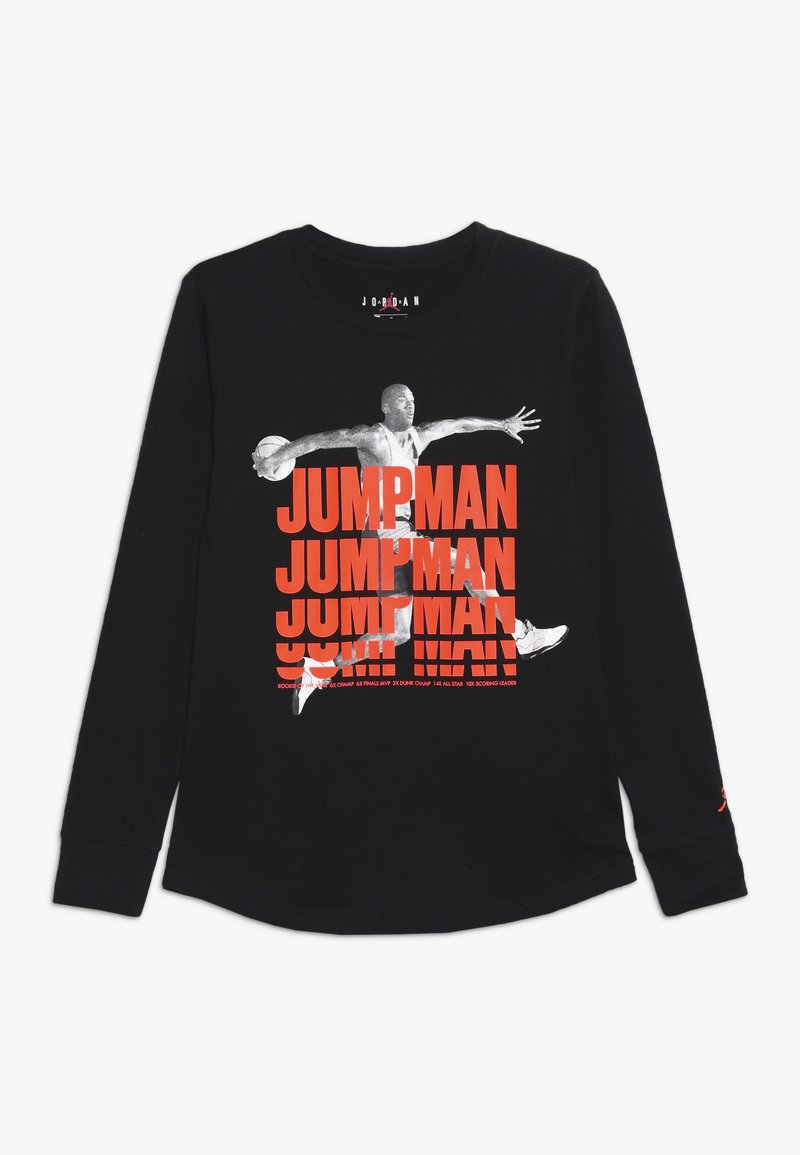 Jordan - JUMPMAN STACK TEE - T-shirt à manches longues - black