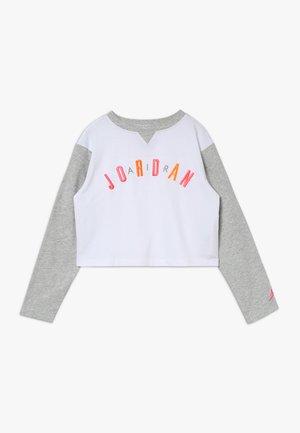 JORDAN VARSITY LUXE RINGER - Long sleeved top - white