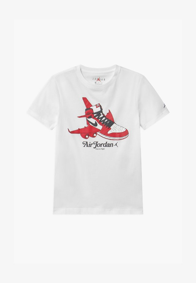 TAKEOFF - T-shirt z nadrukiem - white