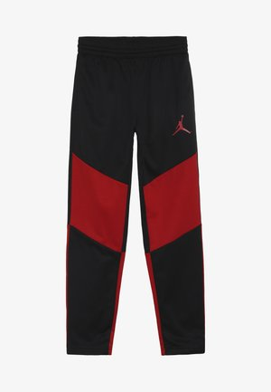 SPORT PANT - Pantalones deportivos - black/gym red