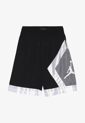 BLOCKED DIAMOND SHORT - Sports shorts - black/gunsmoke/white