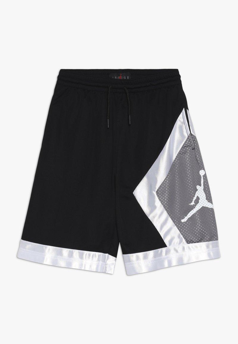 Jordan - BLOCKED DIAMOND SHORT - Sportovní kraťasy - black/gunsmoke/white