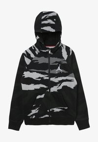 Jordan - WINGS FULL ZIP CAMO - veste en sweat zippée - black