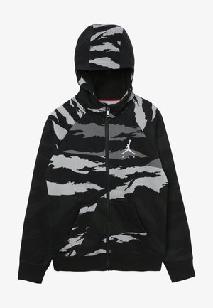 WINGS FULL ZIP CAMO - veste en sweat zippée - black