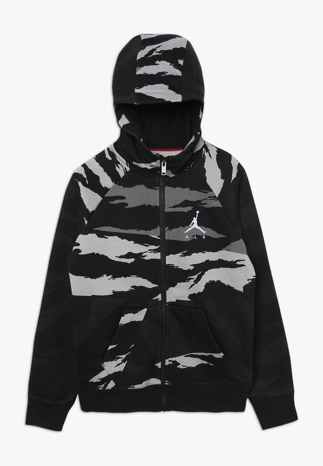 WINGS FULL ZIP CAMO - Zip-up hoodie - black