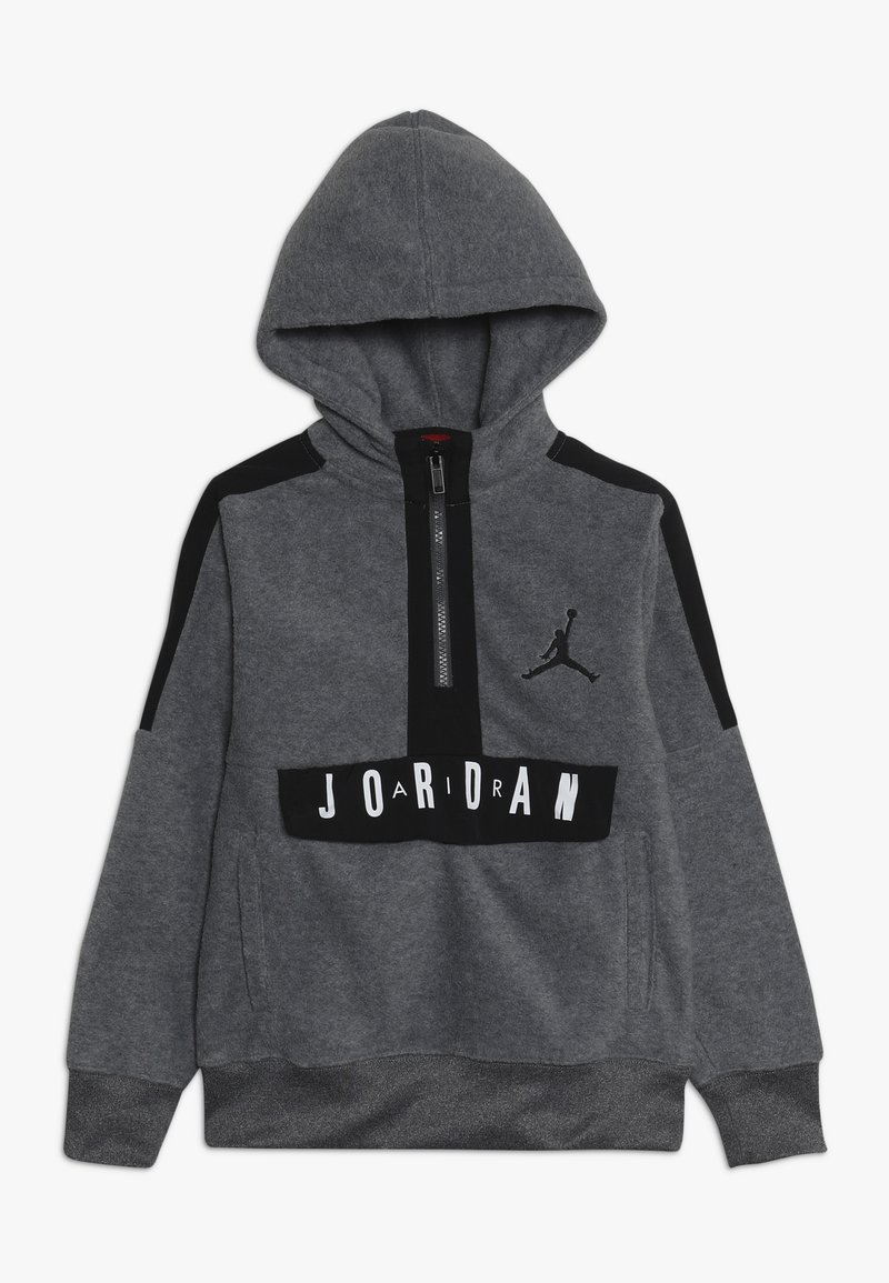 Jordan - JORDAN AIR 1/2 ZIP HOODIE - Sweat à capuche - carbon heather