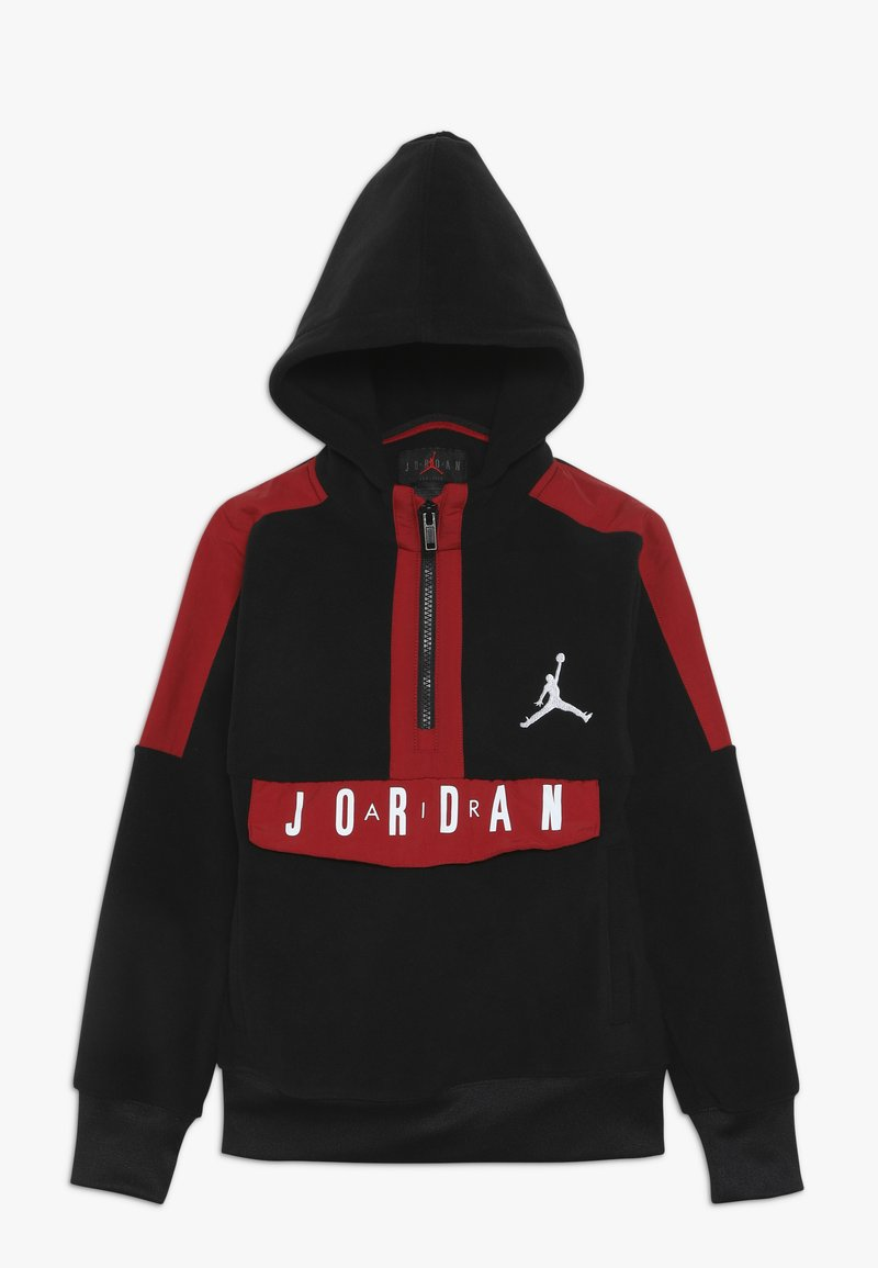 Jordan - JORDAN AIR 1/2 ZIP HOODIE - Sweat à capuche - black